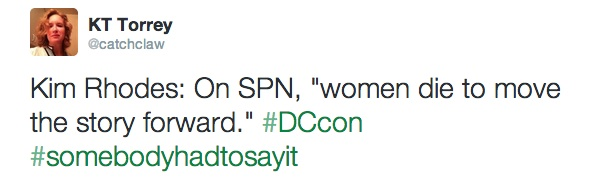 Twitter   catchclaw  Kim Rhodes  On SPN   women ...