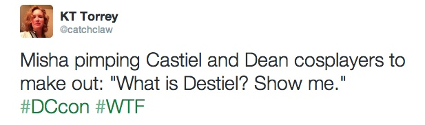 Twitter   catchclaw  Misha pimping Castiel and Dean ...
